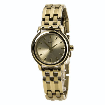DKNY NY8489 Women's Gold Tone Dial Gold Plated Steel Bracelet Quartz Watch