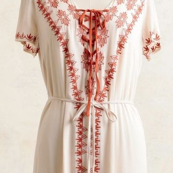 Ferry Ride Embroidered Maxi Dress