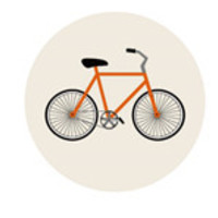 Fixie Bike Orange Pop socket style Round Pop Phone Holder