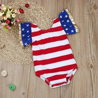 Baby Girls Stars N Stripes Romper
