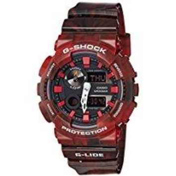 Casio #GAX100MB-4A Men's Tide Graph Thermometer Marble Red Glide G Shock Watch