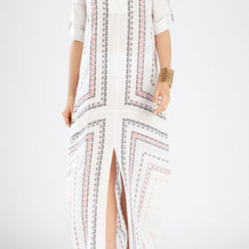 Olivia Long-Sleeve Kaftan Dress