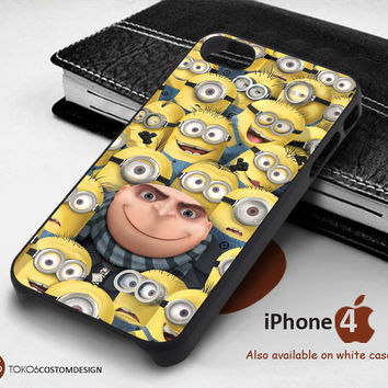 Minion With Fredy for iPhone 4/4S, iPhone 5/5S, iPhone 6, iPod 4, iPod 5, Samsung Galaxy Note 3, Galaxy Note 4, Galaxy S3, Galaxy S4, Galaxy S5, Galaxy S6, Phone Case