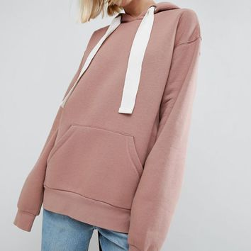 ASOS WHITE Oversized Hoodie at asos.com