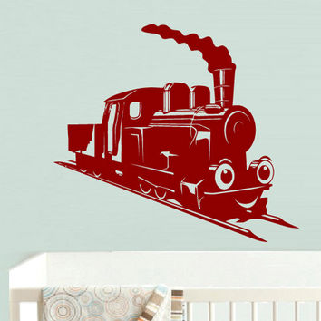 rvz723 Wall Decal Vinyl Sticker Decor Nursery Kids Baby Train Thomas Choo Choo