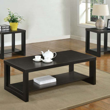 Brown Coffee Table, Two End Tables   Audra 3 Piece Table Set   American Freight