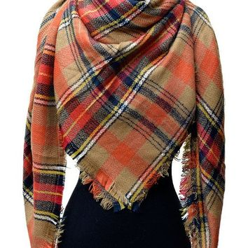 WINDSOR PLAID BLANKET SCARF - MULTI