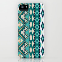 Cute Turquoise Tribal iPhone Case iPhone & iPod Case by PinkBerryPatterns