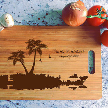 kikb614 Personalized Cutting Board Costa Rica beaches wooden wedding gift wedding