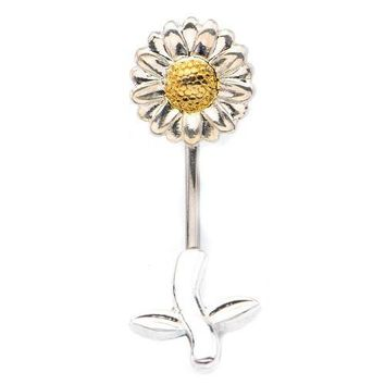 "WildKlass In and Out Sunflower Belly Ring (14g 7/16"")"