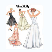 Women's Lingerie Boned Corsets Petticoats Slips for Wedding Bridal Evening Gowns Bust 36 38 40 42 Simplicity 5006 UNCUT Sewing Patterns
