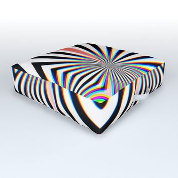 Hypno Outdoor Floor Cushion by duckyb