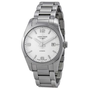 Longines Conquest White Dial Stainless Steel Watch L27854766