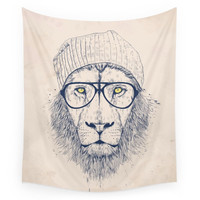 Society6 Cool Lion Wall Tapestry