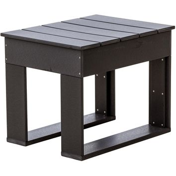 Wildridge Outdoor Recycled Plastic Contemporary Deep Seat Side Table  - Ships in 10-14 Business Days