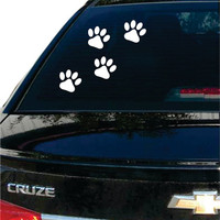 Paw Prints Dog Puppy Car Window Design Decal Sticker Wall Vinyl Art