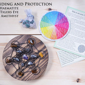 Crystal Grid Complete Set, Healing crystals - Metatrons Cube
