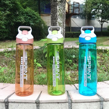 New Straw Design Water Bottle 600ml/800ml By Sprint WATER VITALITY