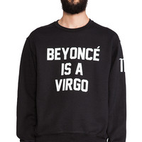 Private Party Zodiac Beyonce Virgo Sweatshirt in Black