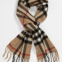 Girl's Burberry 'House Check' Cashmere Scarf