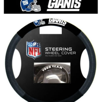 New York Giants Steering Wheel Cover - Mesh