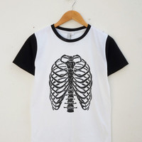 Skeleton Tshirt Bones Tshirt Fashion Funny Hipster Tumblr Teen Gifts Shirt Women Shirt Men Shirt Jersey Shirt Baseball Shirt Short Sleeve