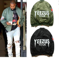 YEEZUS Tour Jacket Camouflage Air Force Flight Bomber Jacket Men  Kanye West Jacket  yeezy