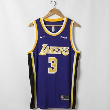 Men's Los Angeles Lakers Anthony Davis Nike Purple 2019/20 Swingman Jersey - Best Deal Online