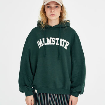 Palm State sweatshirt - Sweatshirts & Hoodies - Clothing - Woman - PULL&BEAR Canary Islands