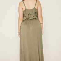 Plus Size Ruffled Maxi Dress | Forever 21 PLUS - 2000169618