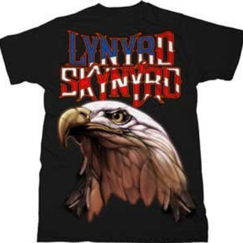 Lynyrd Skynyrd Americana Men's Eagle T-Shirt, Black (Small)