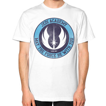 Jedi Academy Est 4019 BBY Unisex T-Shirt (on man)