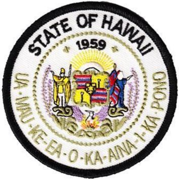 Embroidered Iron-On Hawaii Circular Patch