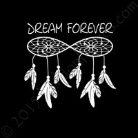 Dream forever boho car decal, car sticker, feather decal, laptop decal, bohemian car decal, dream catcher car decal, auto decal