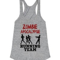 Zombie Apocalypse Running Team-Female Athletic Grey T-Shirt
