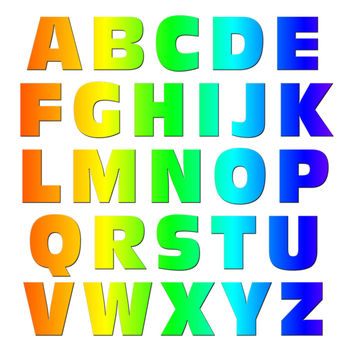 Alphabet Letters Uppercase Rainbow MAG-NEATO'S TM Refrigerator Magnet Set