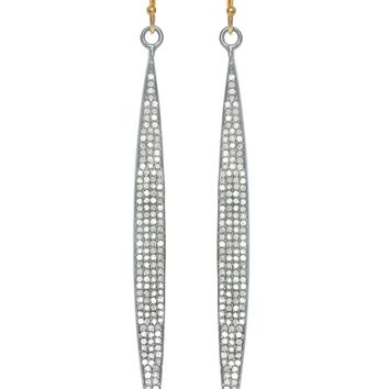 Cutting Edge Champagne Diamond Earrings
