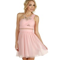 Promo-cassie-peach Prom Dress