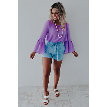 Smooth Running Blouse: Lavender