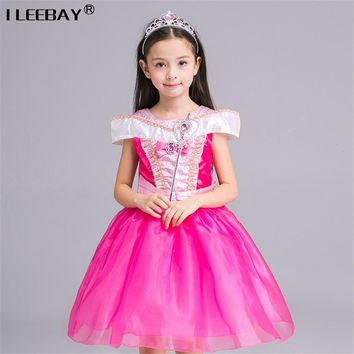 Girl Performance Dress Children Clothing Belle Princess Kids Aurora Sofia Sleeping Beauty Dress Girls Ball Gown Cosplay Costumes