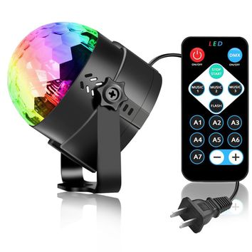 LED Crystal Rotating Disco Ball Stage Light for Parties
