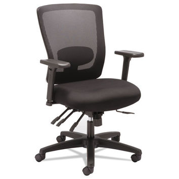 Alera Alera Envy Series Mesh Mid-Back Multifunction Chair, Black