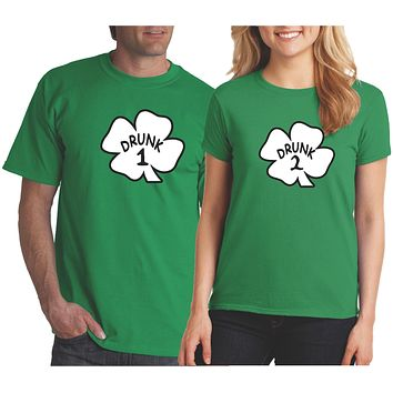 Funny Saint Patrick's Day Shirt - Drunk 1, Drunk 2 Shirts Green
