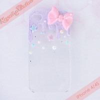 MADE TO ORDER Fairy Dust Decoden iPhone 4 4S 5 by KawaiixCouture