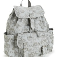 Foil Floral Canvas Backpack