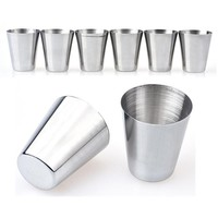 6 Pcs/Set Stainless Steel Coffee Mug Eco-Friendly