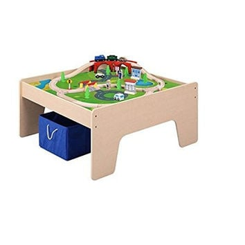 Maxim Activity Table with Train Set & Storage Bin
