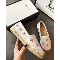shosouvenir  GUCCI  Honeybee flat sole shoes