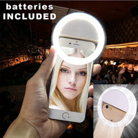 LED Flash Lighting Selfie Phone Case For iPhone 5s 5 SE 6 6S 7 7Plus Selfie Luminous Cover For Samsung S5 S6 S7 Edge Note 7