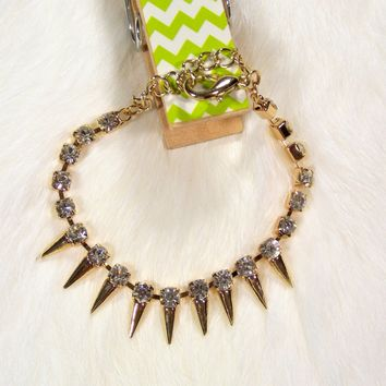 Spikes & Crystals Bria Bracelet